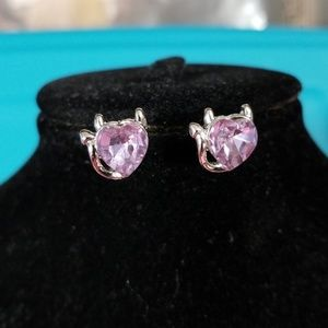 Devilish heart earrings